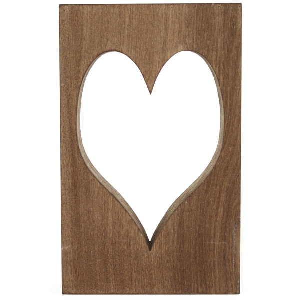 Wooden Block with Heart Cut Out £8.99 #dunelm #heart #home #valentine