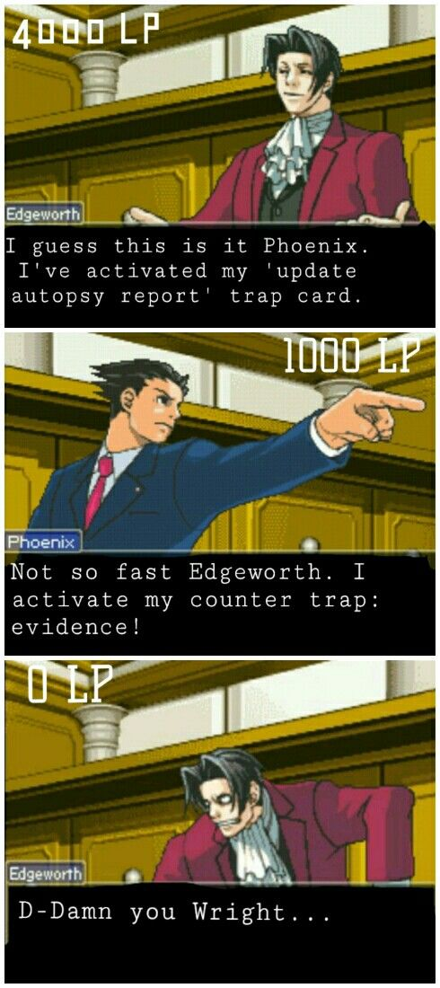When Phoenix and Edgeworth decided to play Yu-Gi-Oh in the courtroom