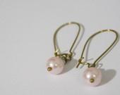 Megmichelle Musts!!!!- Pink Pearl Dangle Earrings w/Bronze Earwires .... :)