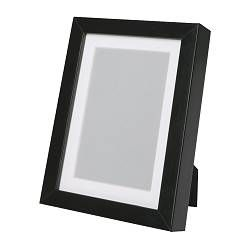 "RIBBA Frame in Black - 7¾"" x 9 ¾"" (5"" x 7"" w/mat) - IKEA - 3 Frames over the Mirror"