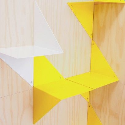 3D folded metal bookshelf White  Adonde