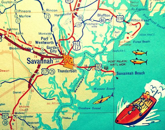 The Best Savannah Map Ideas On Pinterest Savannah Ga Map - Georgia map lonely planet