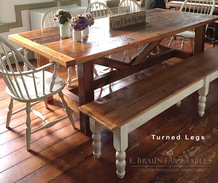 Reclaimed barn wood benches, handcrafted in the heart of Amish country,  Lancaster County, PA. E. Braun Farm Tables and Furniture, makers of custom  ...