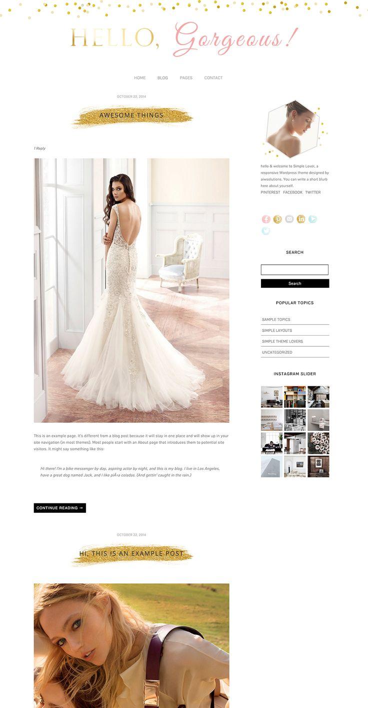 15 best Wordpress theme images on Pinterest | Wordpress template ...