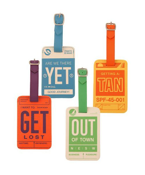 Fun, vintage-inspired luggage tags with buckle closure, from Dormify.  Vianevver:    Luggage Tags