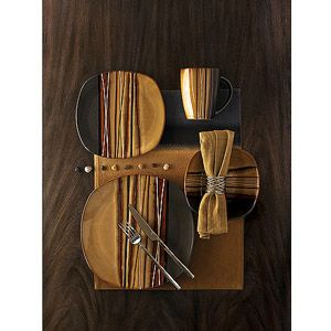 Hometrends Bazaar Brown 32 Piece Dinnerware Set Just