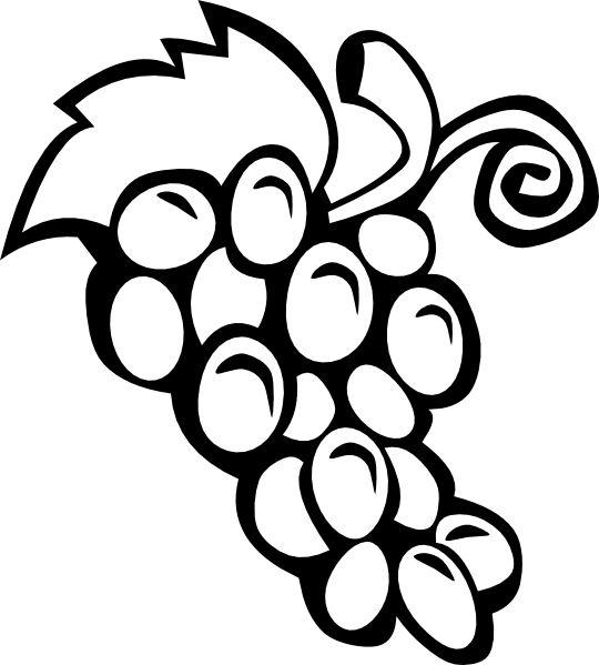 one direction coloring pages cartoon vines | Free Printable Black Art | Grape Vine clip art - vector ...