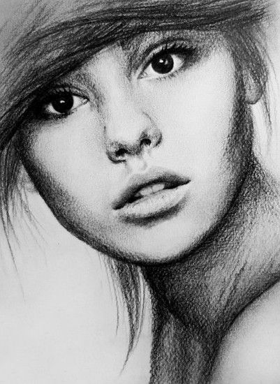 Drawing Scribble Face : Her eyes are amazing such a beautiful pencil sketch