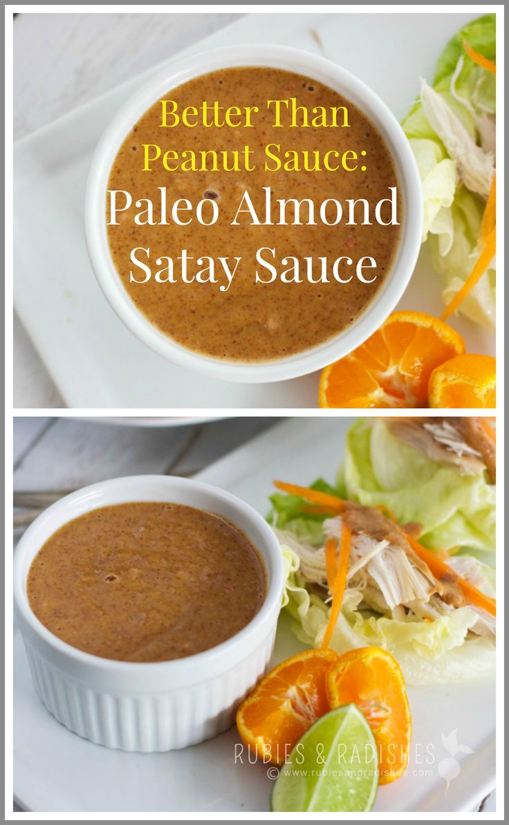 Better than Peanut Sauce: Paleo Almond Satay Sauce - Rubies & Radishes