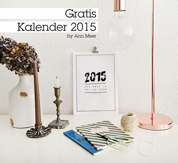 Ann.Meer by Anna-Maria Dahms: FREEBIE: printable 2015 Kalender