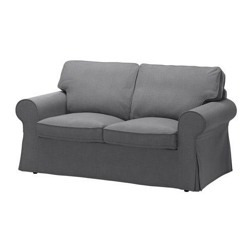 IKEA - EKTORP, Canapé 2 places, Nordvalla gris foncé, , Les coussins d'assise garnis de mousse haute résilience et de rembourrage…