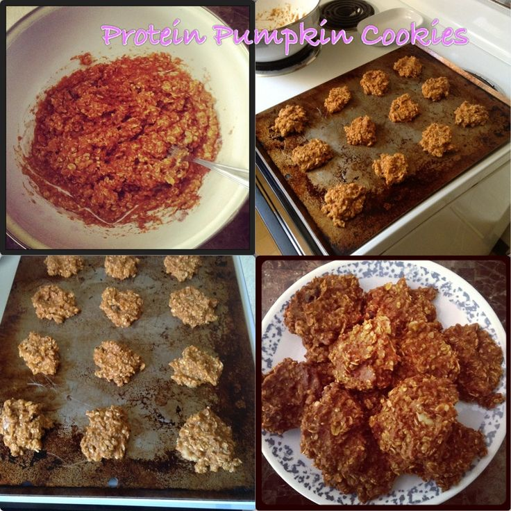 ... favorite cookies for his birthday. My Protein Pumpkin Cookies a