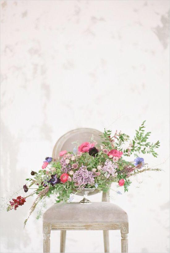 Cascading floral arrangement ideas. Captured By: Michelle Boyd Photography http://www.weddingchicks.com/2014/06/17/diy-videos/