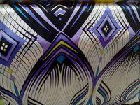 Telas суперэластик атласная поплин фиолетовый геометрия шелка ткани тюль материал для штор блузка свадебное платье шелковый ткань
