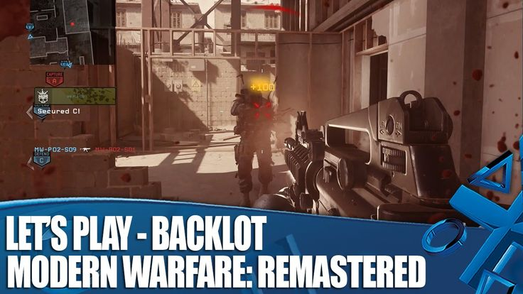 Call Of Duty Modern Warfare: Remastered - New PS4 Gameplay on Backlot