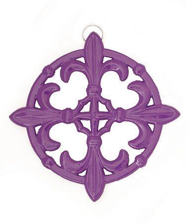old dutch international purple fleur de lis trivet purple kitchen decorpurple - Purple Kitchen Decor