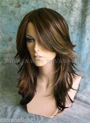 3Tone Brown with Auburn Tones highlights Long Layered Tarah Nirvana wig