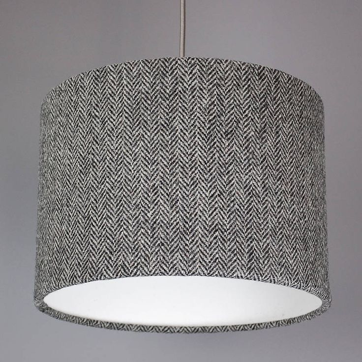 Are You Interested In Our Harris Tweed Lampshade Grey Lamp Shade With Black White Monochrome Herringbone Wool Need Look No Further