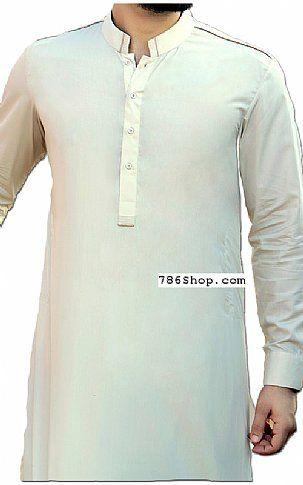 Off-white Men Shalwar Kameez Suit   Buy Pakistani Indian Dresses