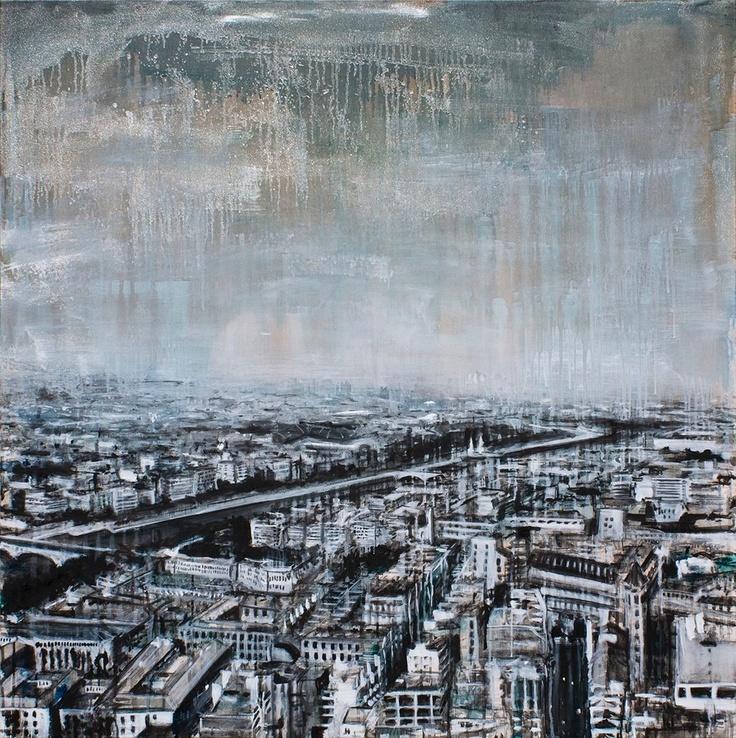 Vincenzo Todaro, (un)memory #005 - City, olio e acrilico su tela, 100X100, 2009