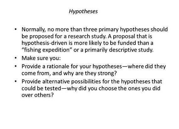 Hypothesis In Research Proposal Research Proposal Hypothesis Research Proposal Example