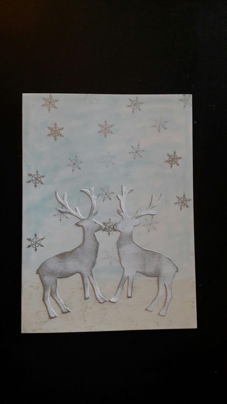 Julekort med snøkrystaller