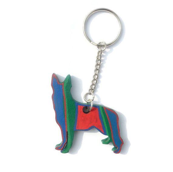 German Shepherd, Dog Keychain, Alsatian Dog, Dog Keyring, Dog Accessories, Hand Painted Dog, Dog Art, Dog Lover Gift, Pet Keychain, Dog Gift