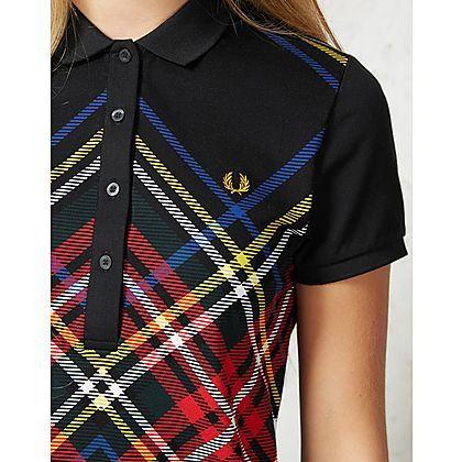 Fred Perry Tartan Polo Shirt | ARK Clothing #black #fredperry #winter #black #polo #shirt #tartan