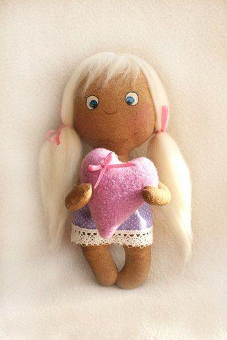 Кофейная куколка, кукла Тильда Набор для самостоятельного шитья куклы Тильда студии Ваниль
