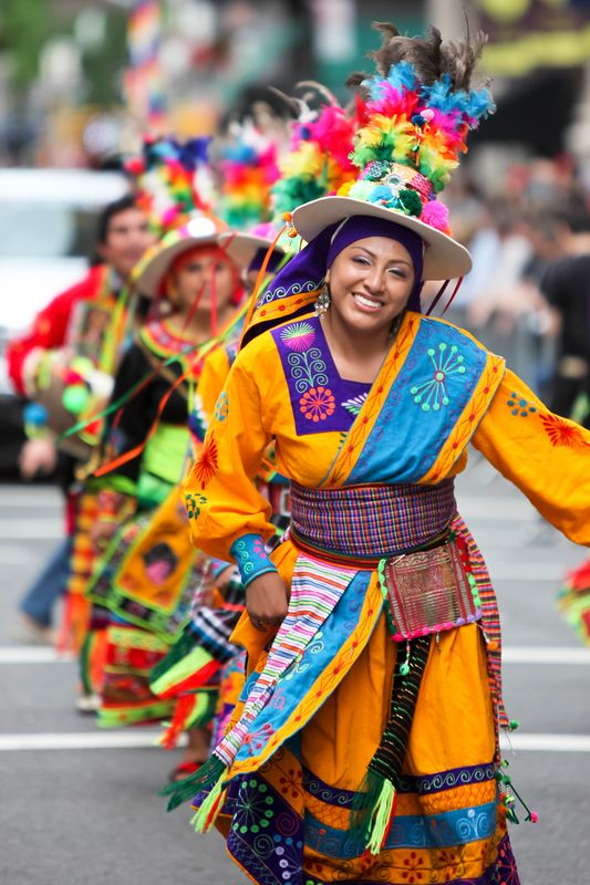 We bolivians have any traditional folk dances...