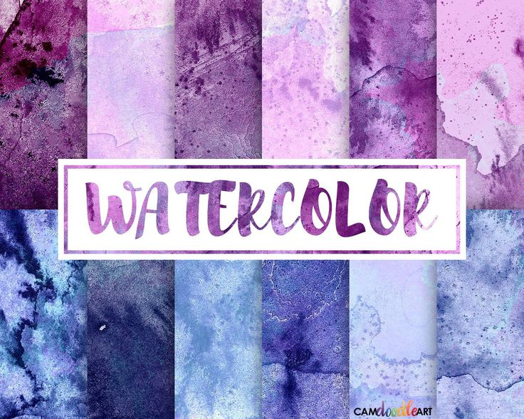 Watercolor Digital Paper Pack, Pink and Purple, Dark Blue, Scrapbooking Paper, Cardmaking,  Watercolor Texture, Watercolor Background by CamDoodleArt on Etsy