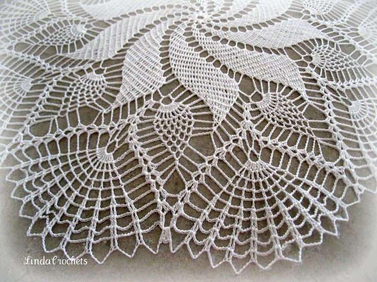 The Pineapple Swirl Doily is my name for this doily.  It comes from a book published by Ondori called Crochet Treasures.  The doilies in th...