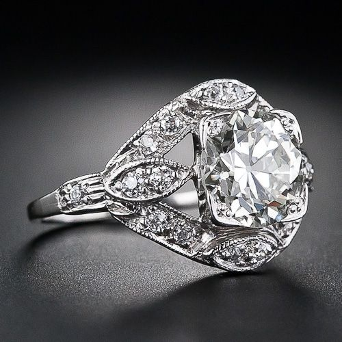 Platinum and Diamond Art Deco Engagement Ring ||  This one's only a measly 13 grand.
