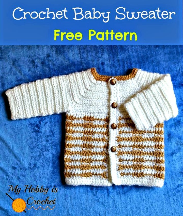 3872bcab0 Crochet Heartbeat Baby Sweater – Free Pattern with Tutorial - 14 Free  Crochet Sweater Patterns for Babies - DIY   Crafts
