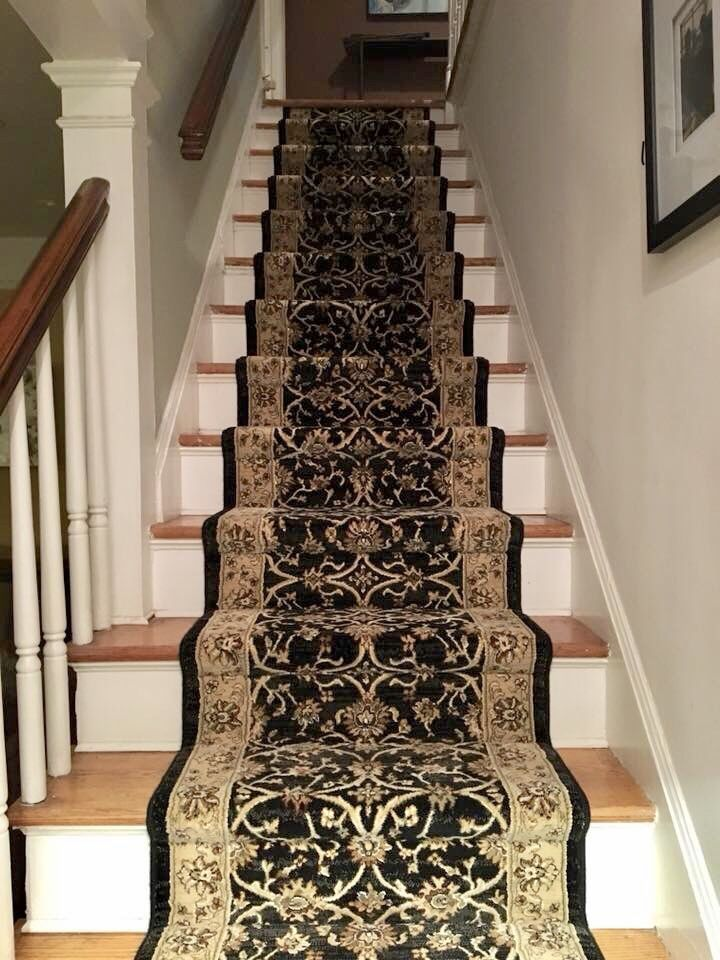 Ready Made Roll Runners Are Great For A Straight Flight Of Stairs | Roll Runners For Stairs | Flooring | Carpet Stair Treads | Canyon Kazmir | Persian Garden | Area Rugs