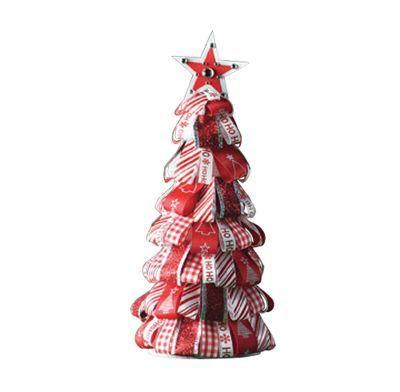 Celebrate It® Ribbon TreeRibbons Trees, Christmas Crafts, Trees Crafts, Trees Tutorials, Trees Holiday, Christmas Decor, Ribbons Christmas, Christmas Trees, Diy Christmas