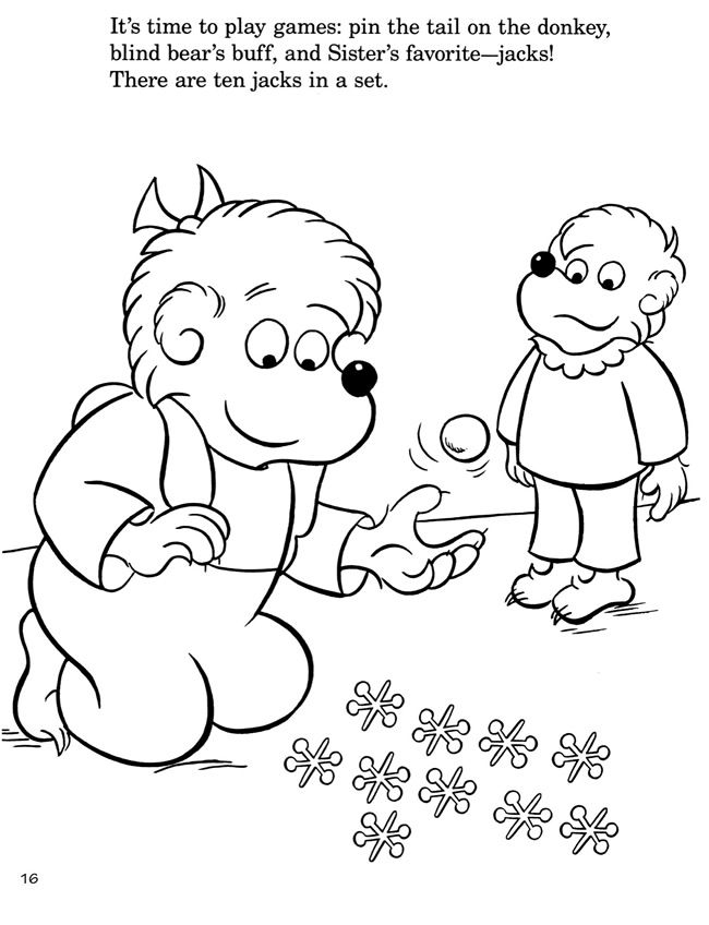 The 12 best Berenstain bears coloring book images on Pinterest ...