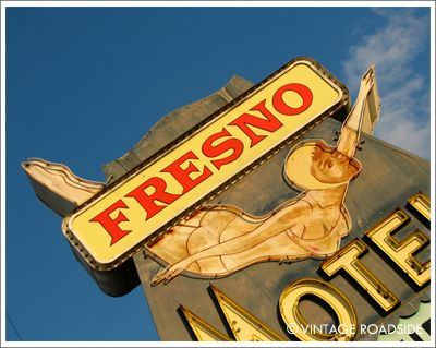 vintage sign: Girls Neon, Fresno Motel, Art Prints, 1950S California, Vintage Roadside, Diving Girls, Motel Signs, Fresno California, Neon Signage