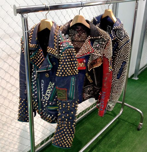 Heavily embellished motor cycle jackets