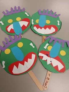 Masks for the book Go Away Big Green Monster