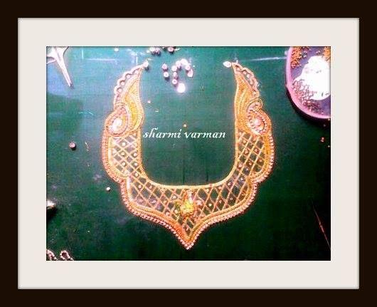Back neck for silk saree