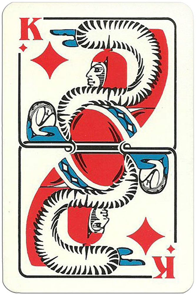 King of diamonds Modernist artistic style cards from ...