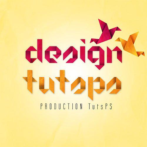 Concevoir un texte en Origami avec Photoshop - Tuto Photoshop les meilleurs tutoriaux photoshop français parmis les tutoriaux photoshop du net
