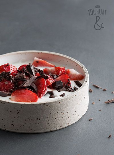 Jordbær & Sjokolade - Se flere spennende yoghurtvarianter på yoghurt.no - Et inspirasjonsmagasin for yoghurt.