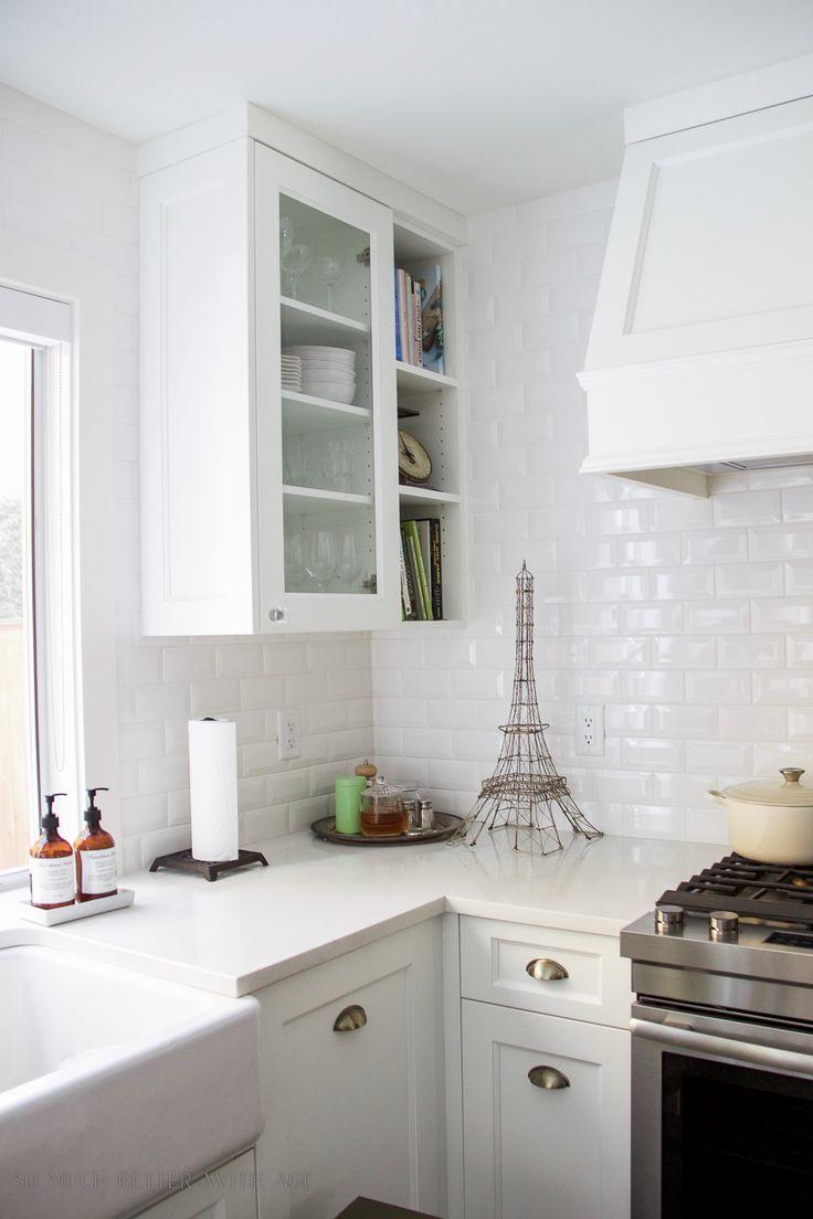 renovación de la cocina, baldosas de metro, fregadero de granja / Mi gran renovación Hermosa Cocina - Antes y Después Fotos