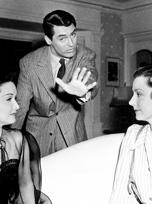 Cary Grant, Gail Patrick, and Irene Dunne on the set of My Favorite Wife, 1940
