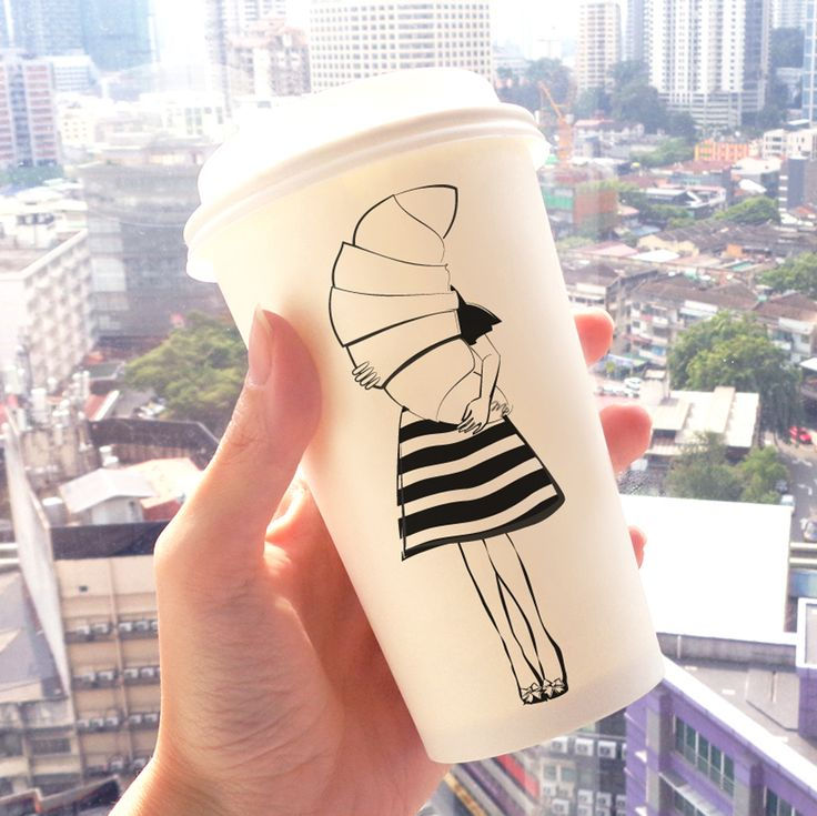 stylish coffee in my illustrated cup in sunny Malaysia