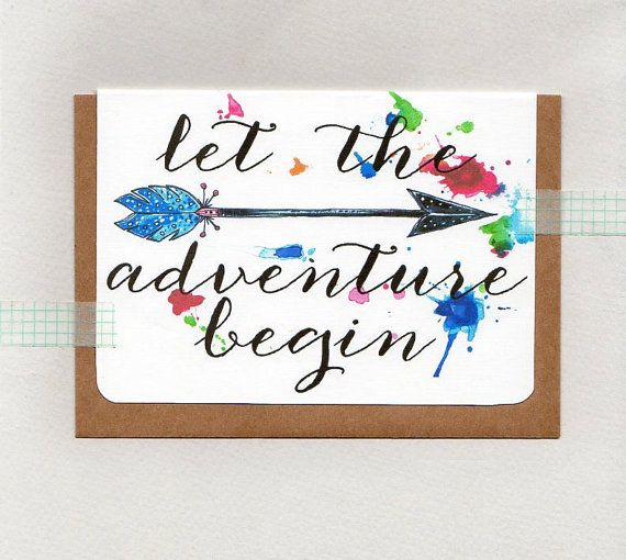 LET the ADVENTURE BEGIN . greeting card . art . by ThePaisleyFive