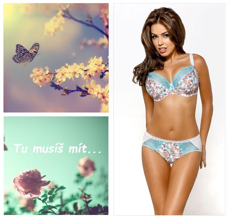 Tu musíš mít… Je saténově hebká, je dokonale pohodlná. Je to podprsenka Butterfly s letním designem, plným motýlků a květin.