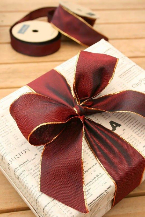 red wire edged ribbon | print wrapping